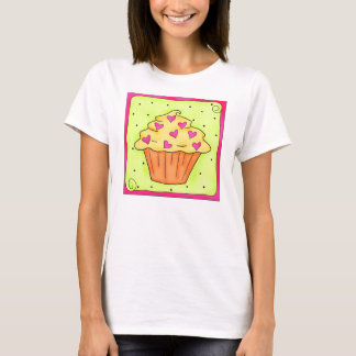 Yellow and Orange Cupcake Tee Shirt