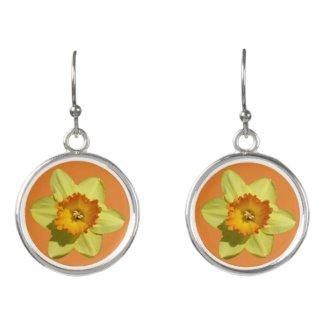 Yellow and Orange Daffodils Earrings