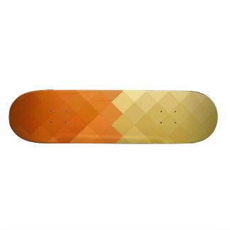 Yellow and Orange Diamond Seamless Pattern Skateboard Deck