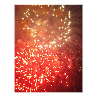 Yellow and Orange Fireworks in the Sky Letterhead