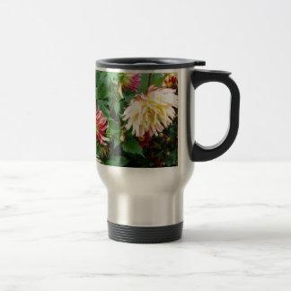 Yellow and orange floral on greenery coffee mug