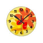 Yellow and Orange Flower Clock