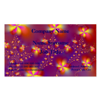 Yellow and Orange Flutterbyes Business Card