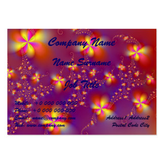 Yellow and Orange Flutterbyes Large Business Card