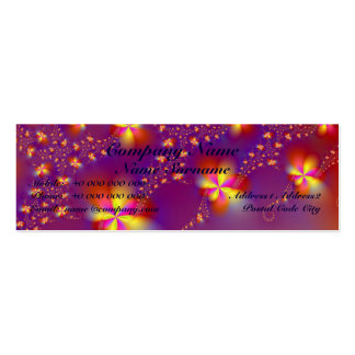 Yellow and Orange Flutterbyes Skinny Mini Business Card