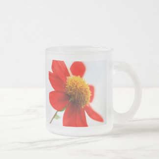 yellow and orange frosted glass coffee mug