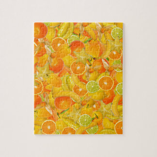 Yellow and orange fruits and vegetables puzzles