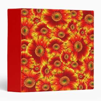 Yellow and Orange Gerbera Daisies 3 Ring Binder