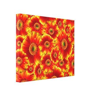 Yellow and Orange Gerbera Daisies Canvas Print