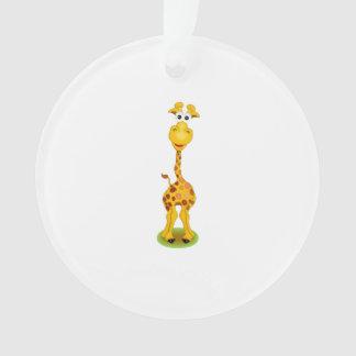 Yellow and orange happy cartoon giraffe