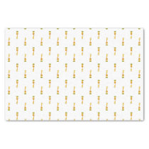 Yellow and orange happy cartoon giraffe tissue paper