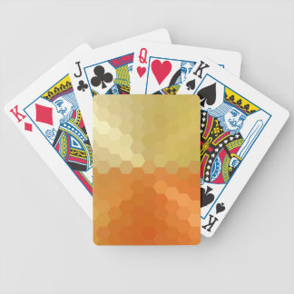 Yellow and Orange Hexagonal Seamless Pattern Bicycle Playing Cards