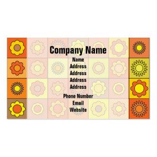 Yellow and Orange Hippie Flower Pattern Business Card