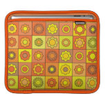 Yellow and Orange Hippie Flower Pattern iPad Sleeves