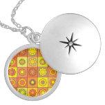 Yellow and Orange Hippie Flower Pattern Jewelry