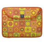 Yellow and Orange Hippie Flower Pattern MacBook Pro Sleeve