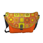 Yellow and Orange Hippie Flower Pattern Courier Bags