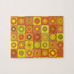 Yellow and Orange Hippie Flower Pattern Puzzle