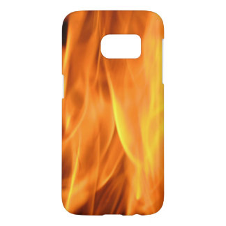 Yellow and Orange Hot Burning Flames Samsung Galaxy S7 Case