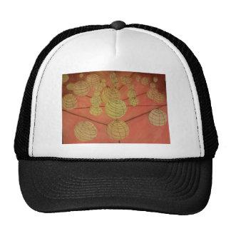 yellow and orange japanese laterns hats