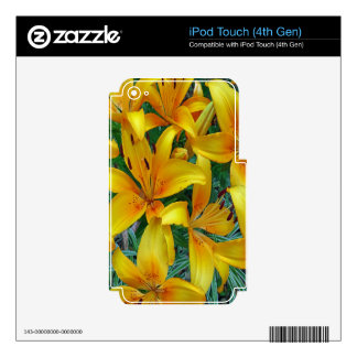 yellow and orange lily's decal for iPod touch 4G