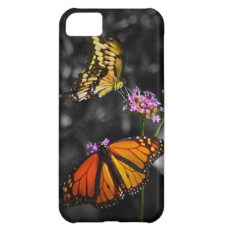 Yellow and Orange Monarch Butterflies on Flowers Case For iPhone 5C