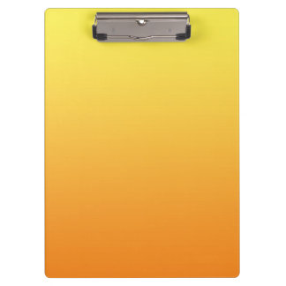"""""""Yellow And Orange Ombre"""" Clipboard"""
