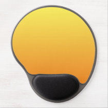 """Yellow And Orange Ombre"" Gel Mouse Pad"