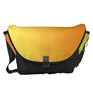 Yellow And Orange Ombre Large Messenger Bag