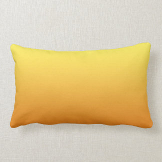 """Yellow And Orange Ombre"" Lumbar Pillow"