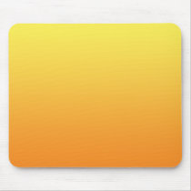 """Yellow And Orange Ombre"" Mouse Pad"