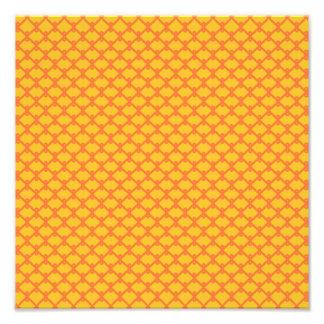 Yellow and Orange Pattern Photo Print