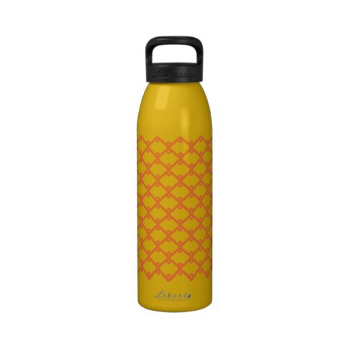Yellow and Orange Pattern Water Bottle