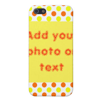 Yellow and Orange Polka Dots - Custom iPhone Cases