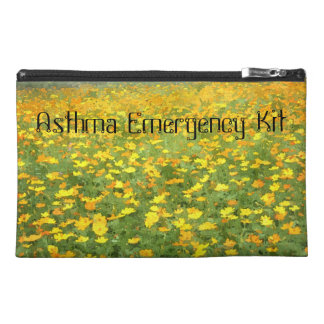 Yellow and Orange Poppies Asthma Emergency Kit Travel Accessories Bags