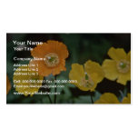 Yellow And Orange Poppies flowers Business Card