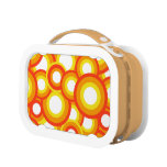 Yellow and orange psychedelic circles yubo lunch box