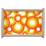 Yellow and orange psychedelic circles serving platter