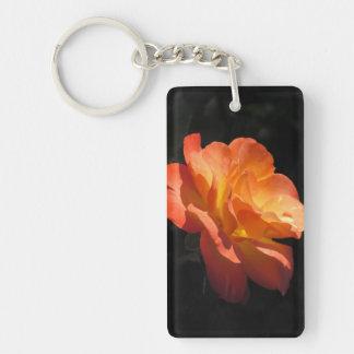 Yellow and Orange Rose Keychain