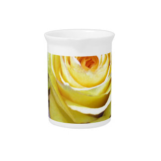 Yellow and Orange Roses Drink Pitcher