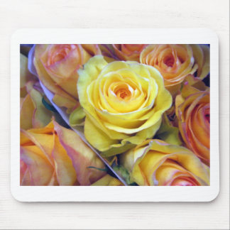Yellow and Orange Roses Mouse Pad