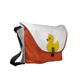 Yellow and Orange Rubber Ducky Rickshaw Bags Messenger Bag