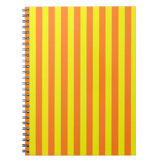 Yellow and Orange Strips Spiral Notebooks