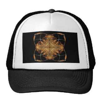 Yellow and Orange Swirled Pillow-Like Fractal Art Trucker Hat