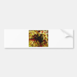 Yellow and orange tones artistic flower bumper sticker