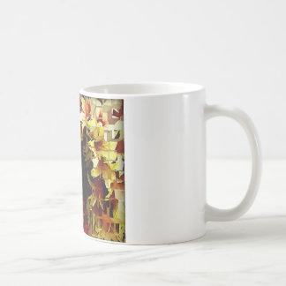 Yellow and orange tones artistic flower coffee mug