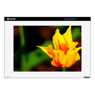 "Yellow and Orange Tulip 15"" Laptop Decal"