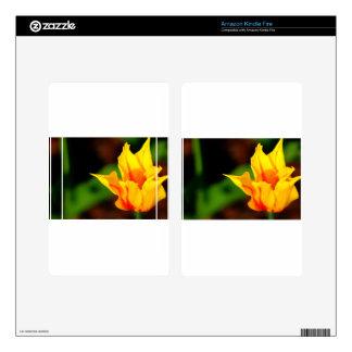 Yellow and Orange Tulip Kindle Fire Skins