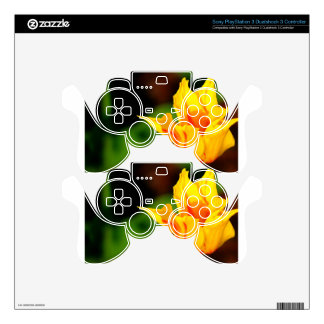 Yellow and Orange Tulip PS3 Controller Decal