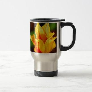Yellow and Orange Tulip Travel Mug